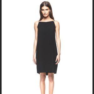 Francisco Costa Calvin Klein black wrap dress 6